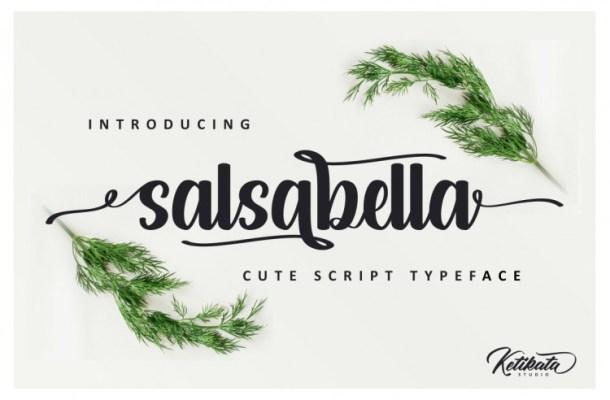Salsabella Cute Script Font