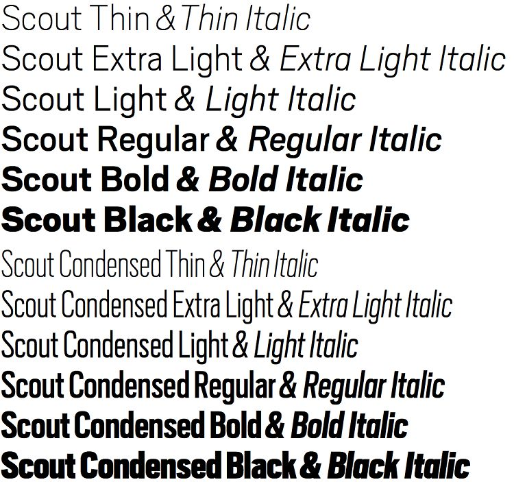 Scout Font Family-2