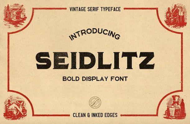 Seidlitz Typeface