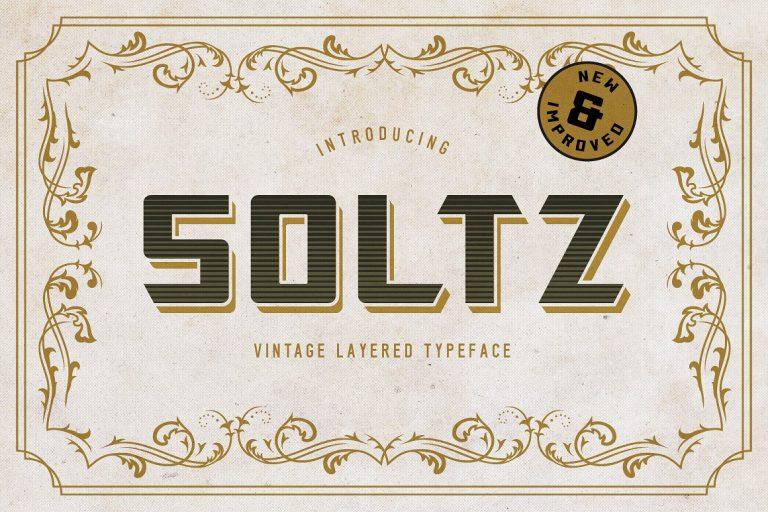 Soltz Typeface - Dafont Free