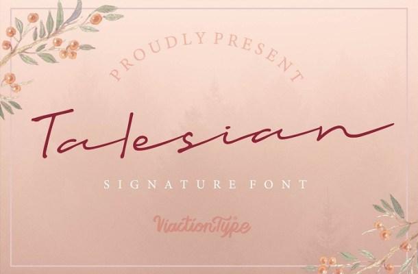 Talesian Signature Font
