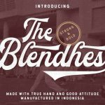 The Blendhes Typeface