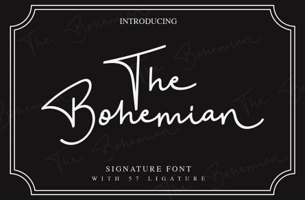 The Bohemian Signature Font