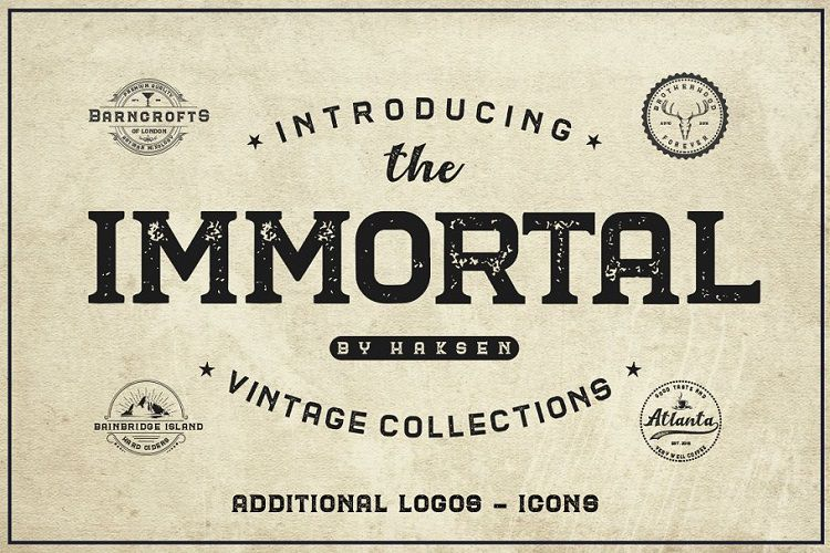 The Immortal Vintage Font