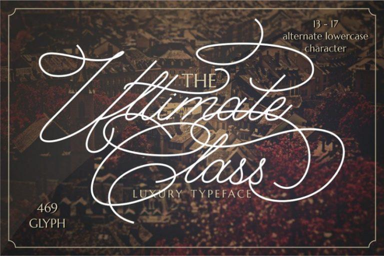 The Ultimate Class Script Font