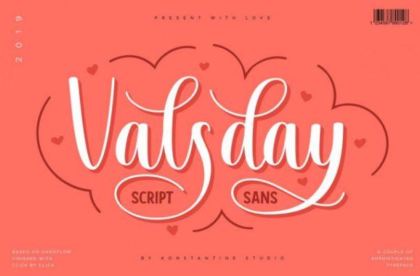 Valsday Script and Sans Font