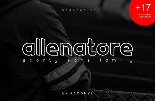 Allenatore Font Family