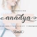 Anadya Handwritten Script Font