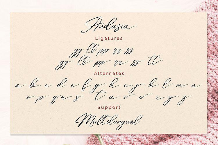 Andasia Script Font-4