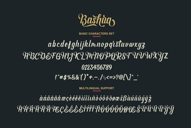 Bashira Script Font-3