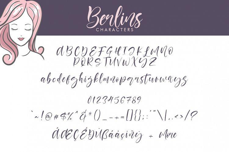 Berlins Script Font-3