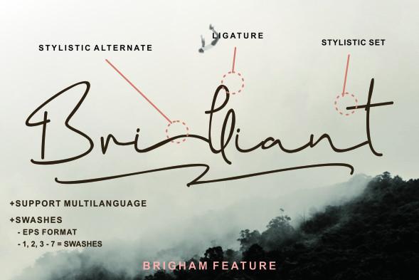 Brigham Signature Font-2