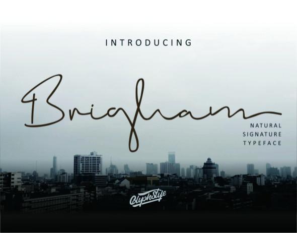 Brigham Signature Font