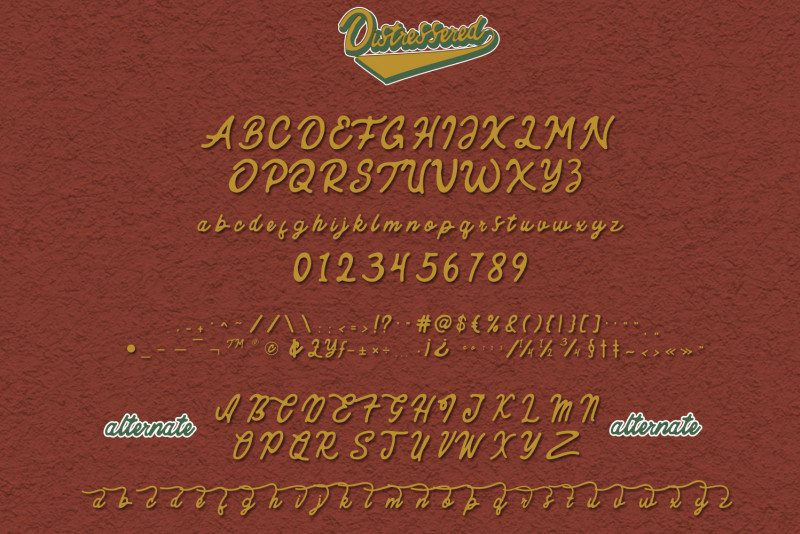 Distressered Vintage Font-2