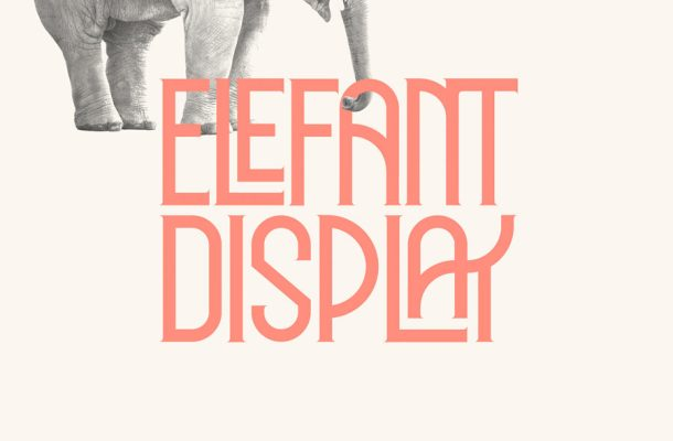 Elephant Display Font
