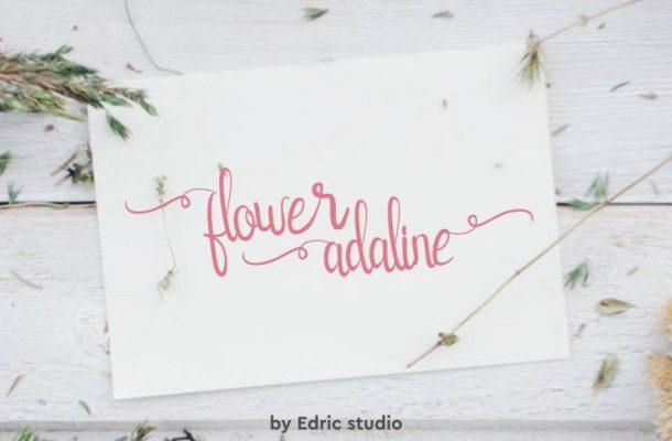Flower Adaline Script Font