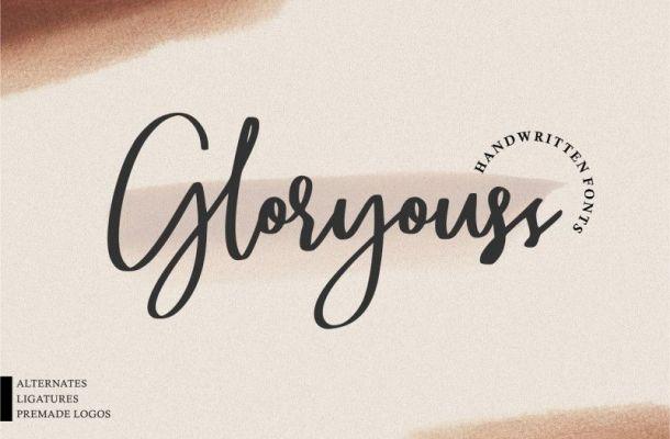 Gloryouss Script Font