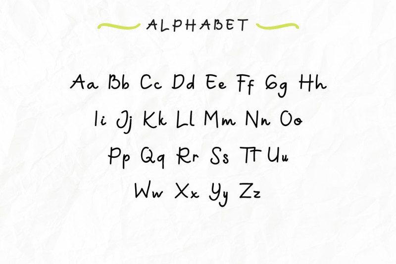 Green Aila Handwriting Font-2