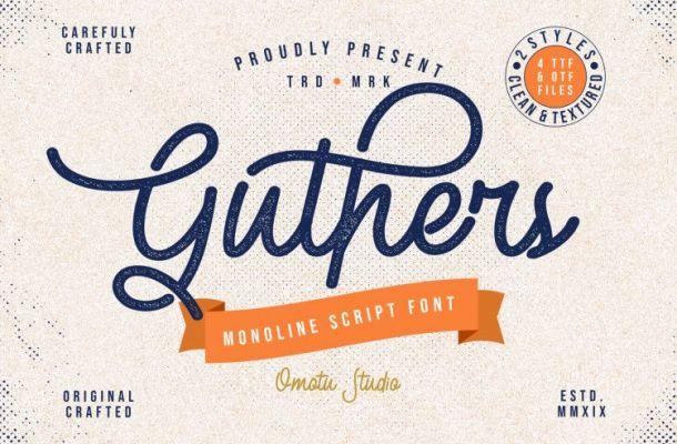 Guthers Monoline Script Font