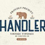 Handler Vintage Font