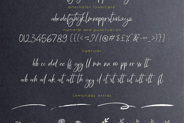 Lemonday Script Font-4