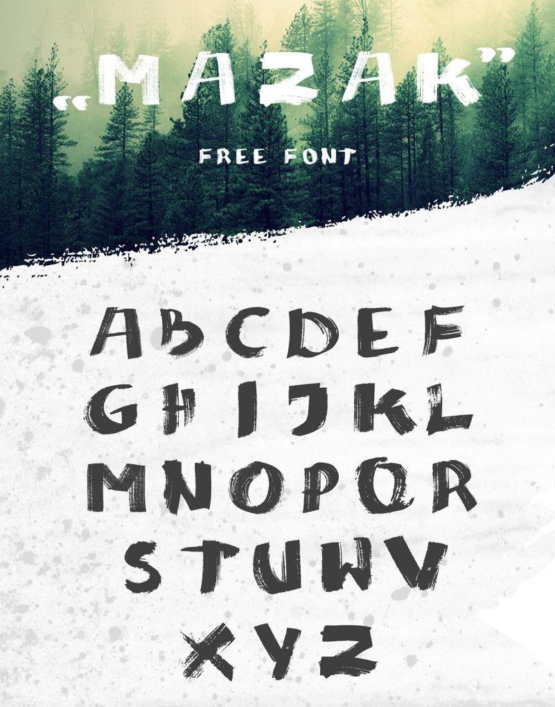 MAZAK Brush Font-2