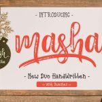 Masha Script Font