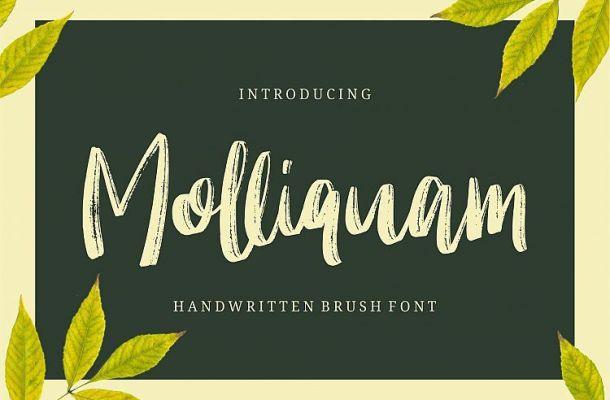 Molliquam Brush Font