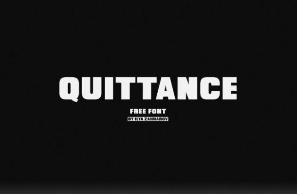 Quittance Typeface