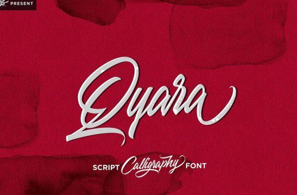 Qyara Calligraphy Font