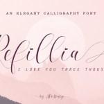 Refillia Calligraphy Font