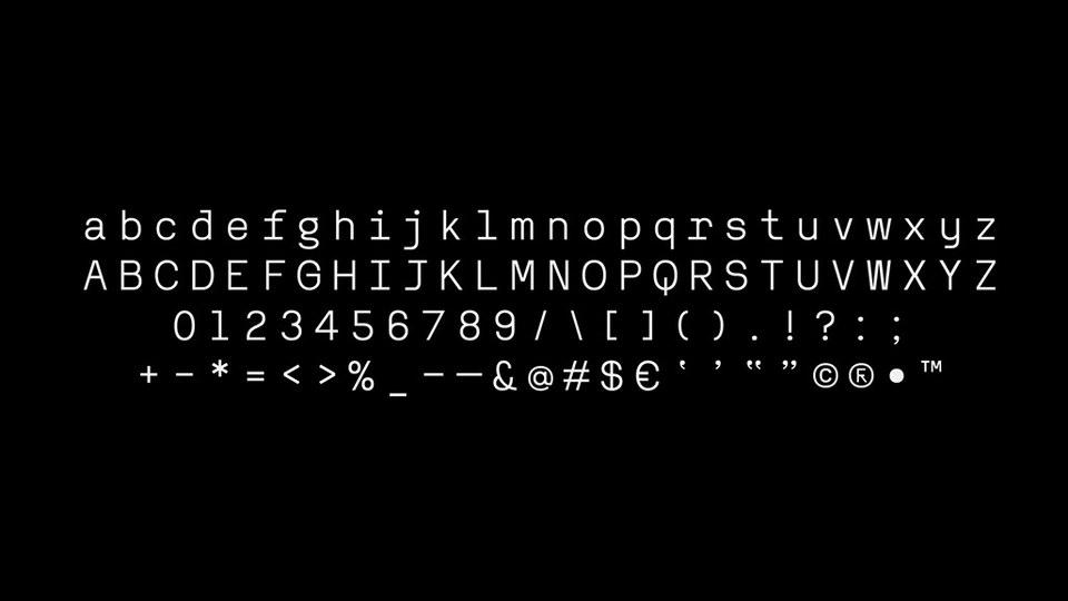 Reno Mono Free Font-2