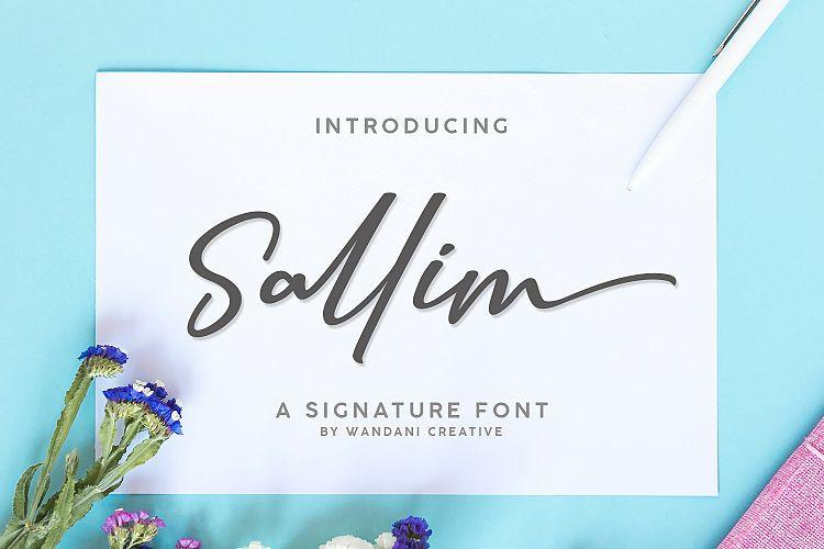 Sallim Signature Font
