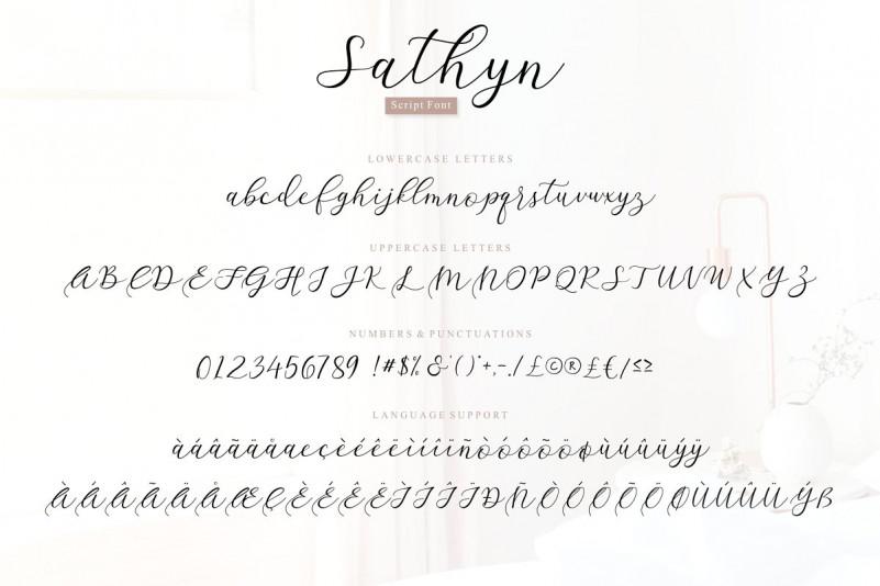 Sathyn Script Font-3