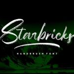 Starbricks Handbrush Font