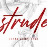 Strude Script Font