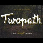 Twopath Script Font