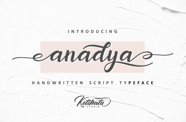 Anadya Handwritten Font