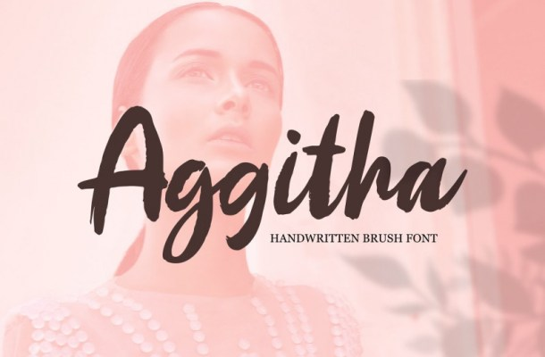 Aggitha Brush Font
