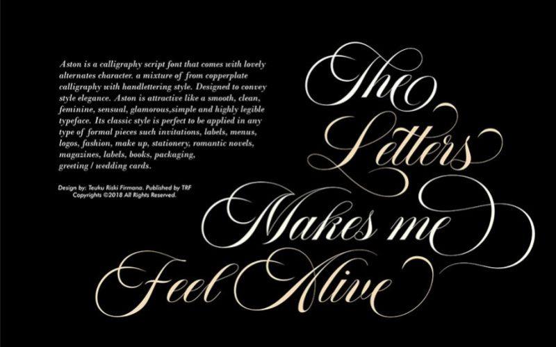 Aston Script Font-2