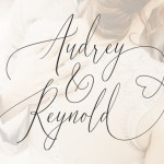 Audrey & Reynold Calligraphy Font