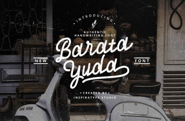 Baratayuda Handwriting Font