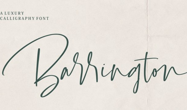 Barrington Calligraphy Font