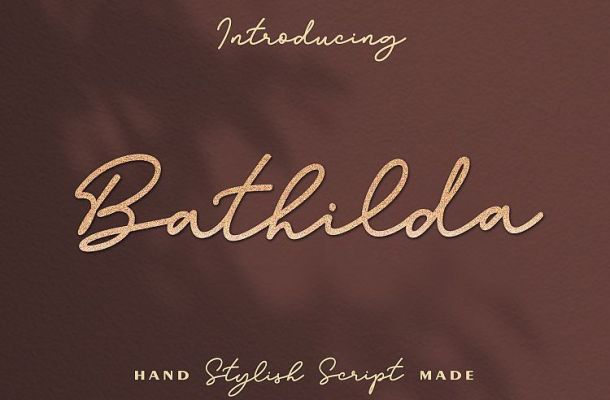 Bathilda Handwritten Font