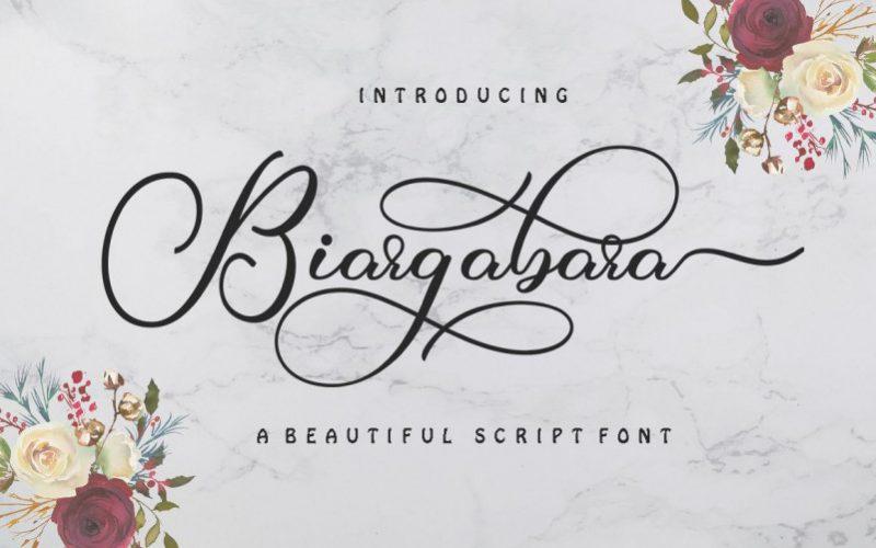 Biargabara Calligraphy Font