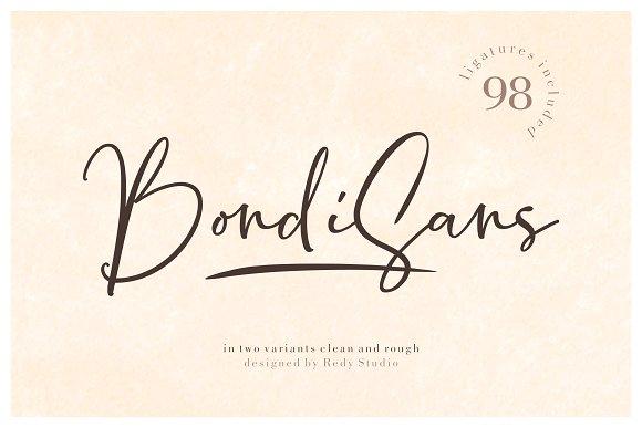 BondiSans Handwritten Font