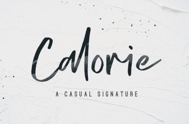 Calorie Script Font