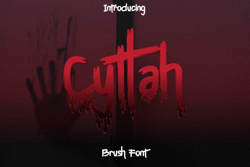 Cyttah Graffiti Font