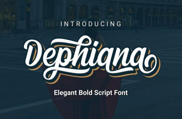 Dephiana Bold Script Font