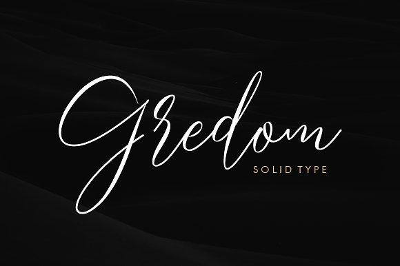 Gredom Handwritten Font